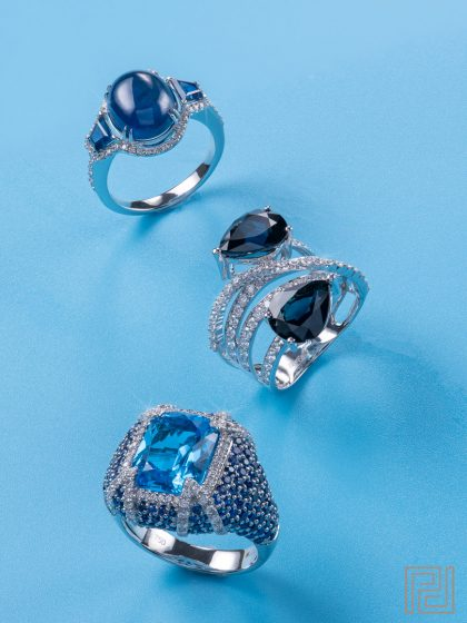 Jewellery Photography - Blue Rings