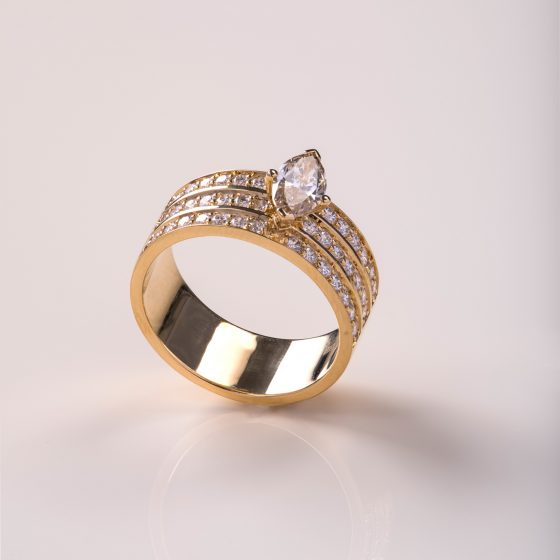 Jewellery Photography - Gold & Stone Ring