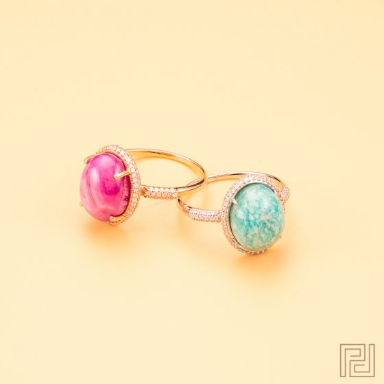 Jewellery Photography - Pastel Rings